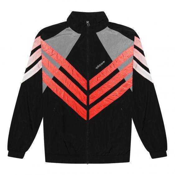 Dardan Jacke Adidas Originals schwarz rot gestreift