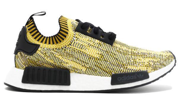 Spongebozz- Schuhe Adidas NMD Primeknit gelb