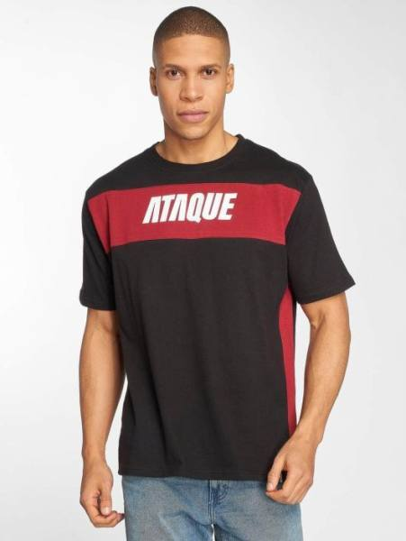 Ataque Clothing Klamotten T-Shirt schwarz rot
