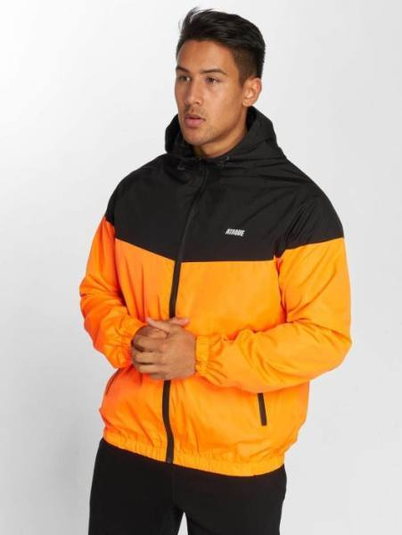 Ataque Jacke orange schwarz