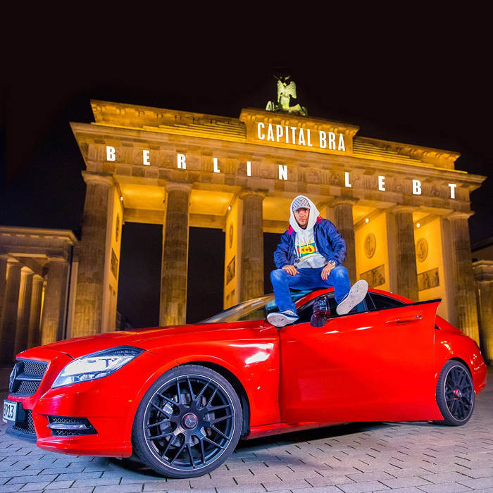 Capital Bra Berlin lebt Cover Mercedes rot