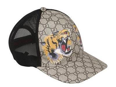 Capital Bra Gucci Cap mit zwei Tigern