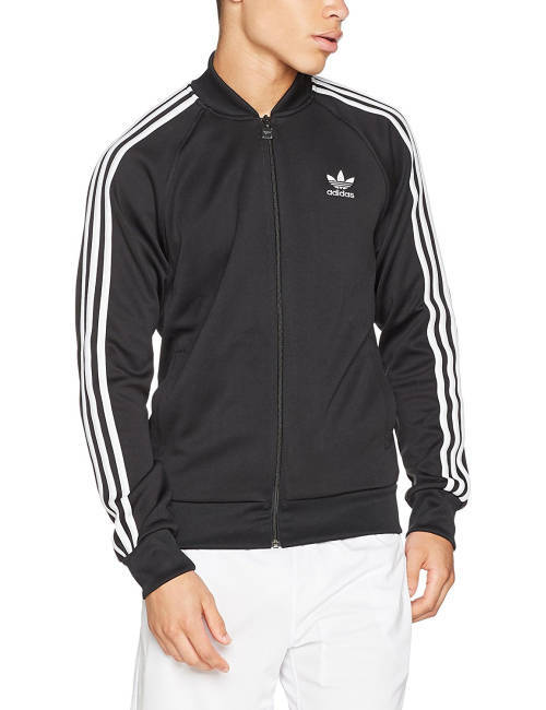 King Eazy Jeden Tag Outfit Adidas SST Jacke schwarz