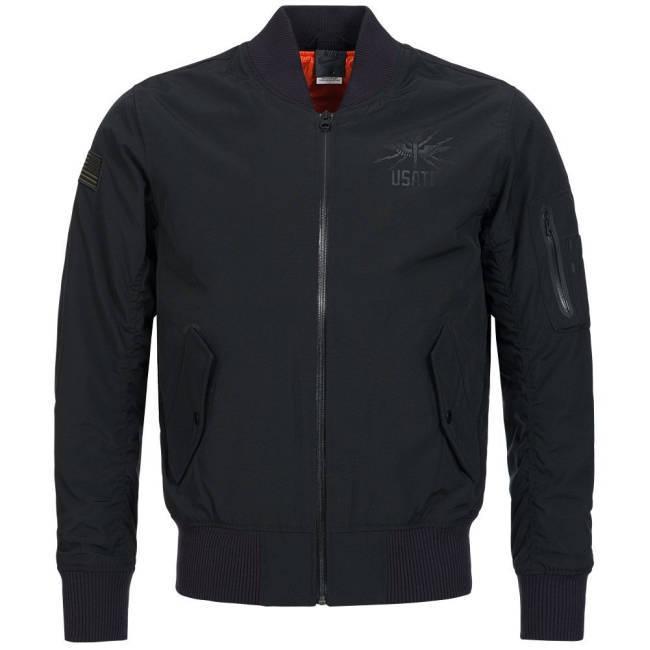 Kontra K Jacke schwarz Nike RU USATF MA1