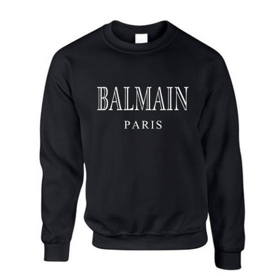 Snipe Pullover Balmain Paris schwarz