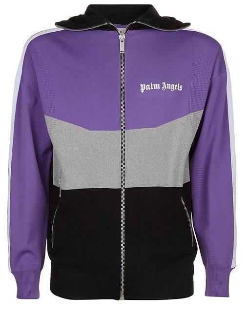 Ufo361 Jacke Palm Angels Colorblock violett grau schwarz