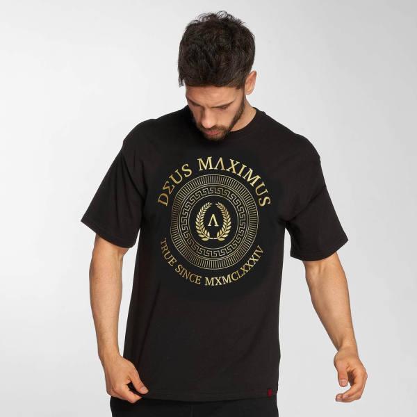 Deus Maximus T-Shirt schwarz gold