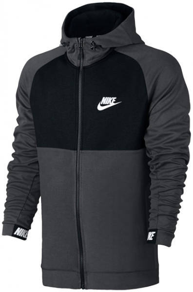 Jigzaw Hoodie Nike schwarz grau