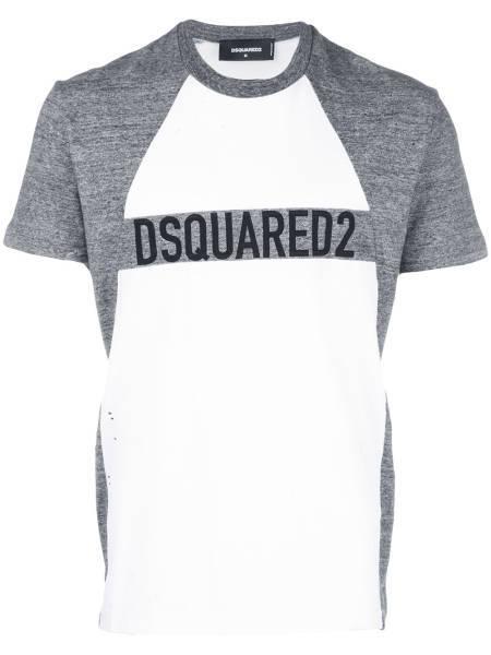 Eno DSquared T-Shirt grau weiß