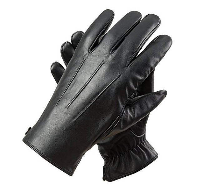 Ak Ausserkontrolle Investment Outfit Lederhandschuhe schwarz
