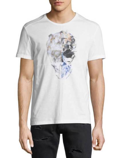 Raf Camora Totenkopf T-Shirt weiß Alternative