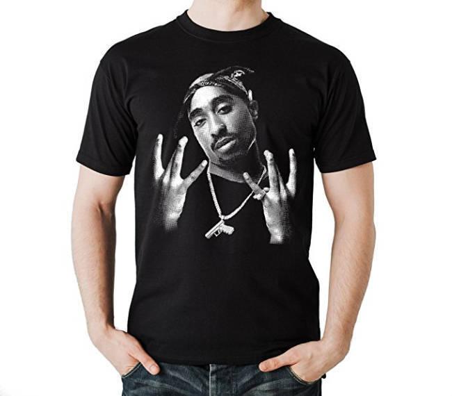Al-Gear TuPac T-Shirt schwarz