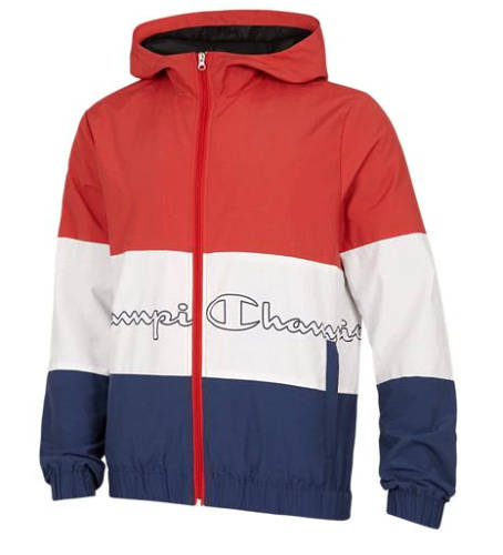 Champion Jacke Colorblock rot weiß blau