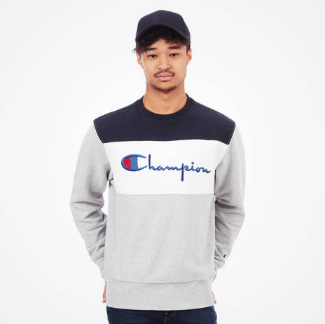Champion Pullover grau Colorblocking