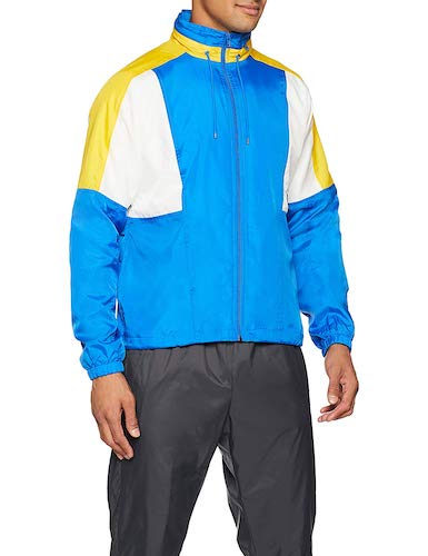 Nike Webjacke Re Issue blau gelb weiß