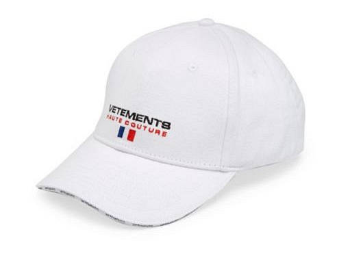 Vetements Cap weiß