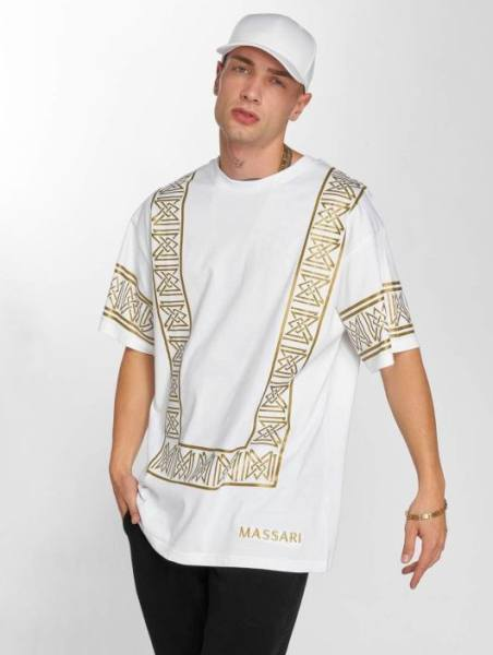 Xatar Massari T-Shirt weiß gold