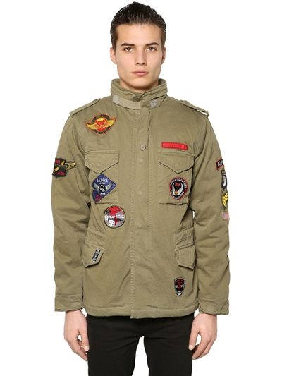 Azet Jacke Camouflage mit Patches