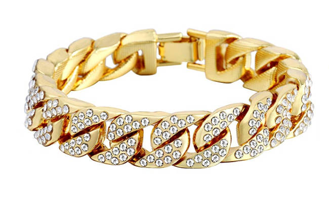 Leon Machere Copacabana Armband gold Iced Out