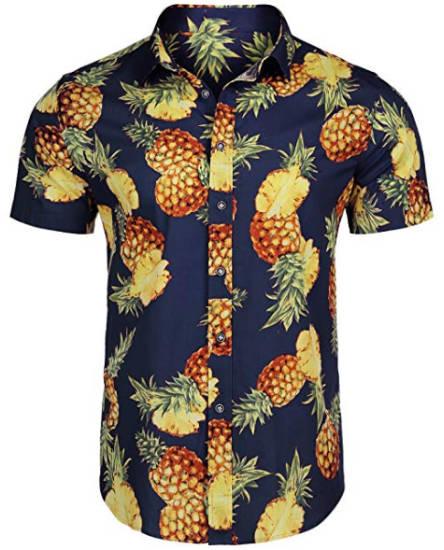Leon Machere Hemd Ananas