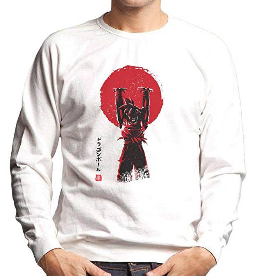 Samurai Dragonball Pullover weiß