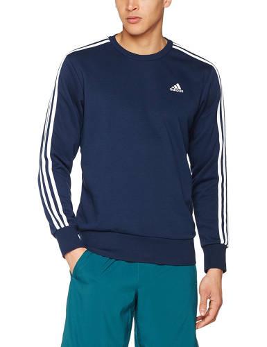 Adidas Pullover blau Streifen Ärmel