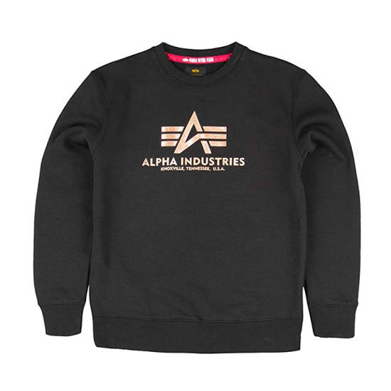 Alpha Industries Pullover Black Gold