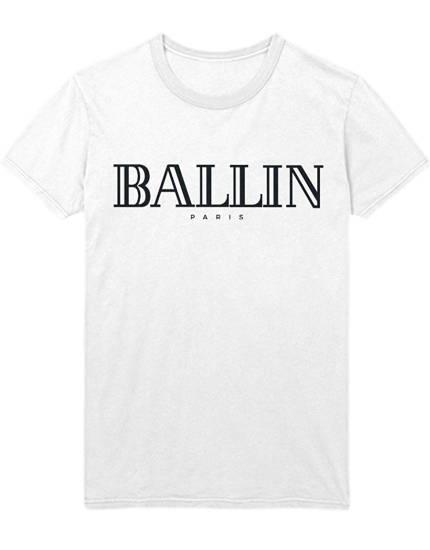 Balmain Paris Style T-Shirt Ballin