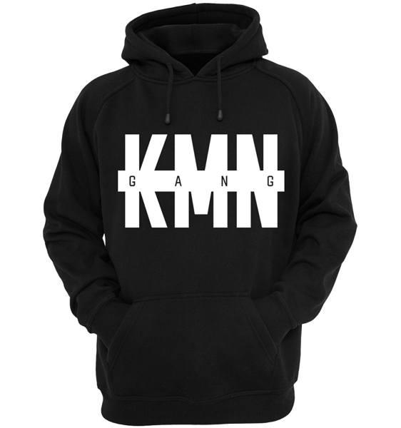 KMN Hoodie schwarz Logo