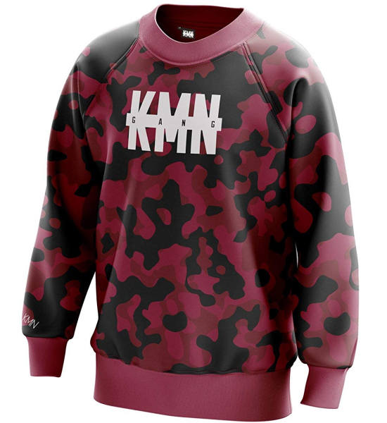 KMN Pullover Camouflage rot