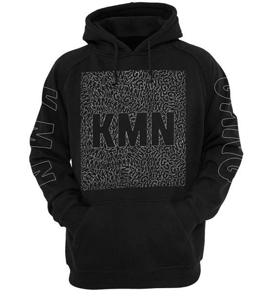 KMN Pullover schwarz Buchstaben