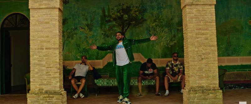 Miami Yacine Velour Trainingsanzug Grün