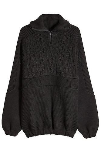 Balenciaga Strickpullover oversized schwarz