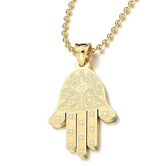 Luciano Style Halskette Hand der Fatima