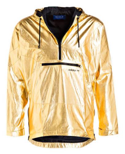 Adidas Schlupfjacke gold