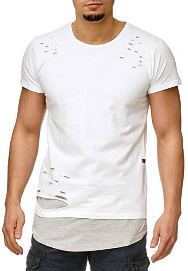 Eno Style Destroyed White T-Shirt