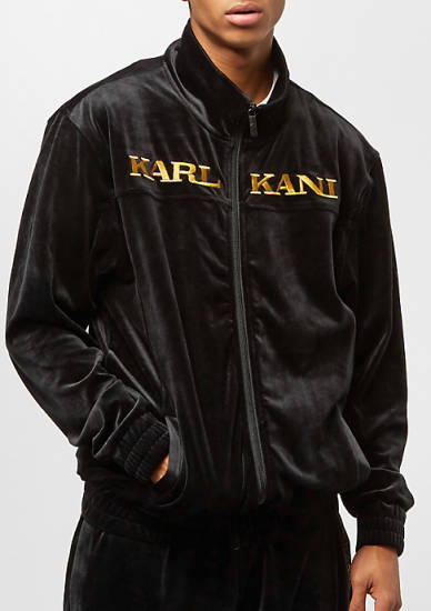 Karl Kani Velour Jacke schwarz