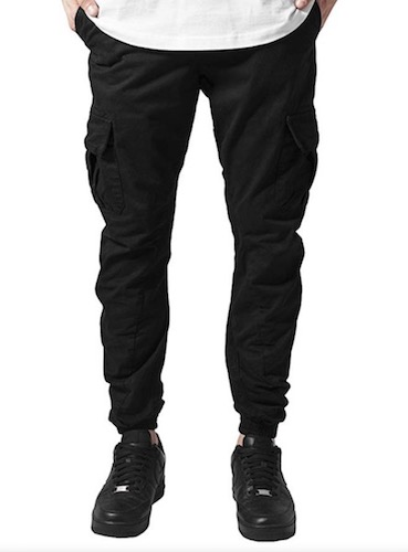 Luciano Style Cargohose schwarz