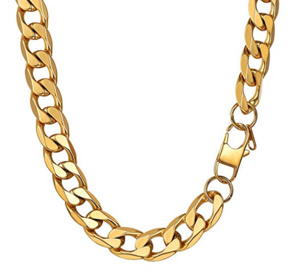 Luciano Style Goldkette Edelstahl