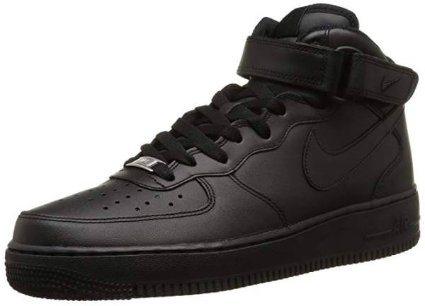 Samra Schuhe Alternative Nike Air Force One Hi Top schwarz