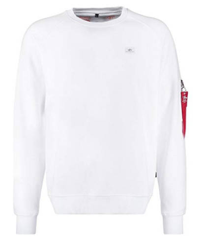 Alpha Basic Sweatshirt weiß