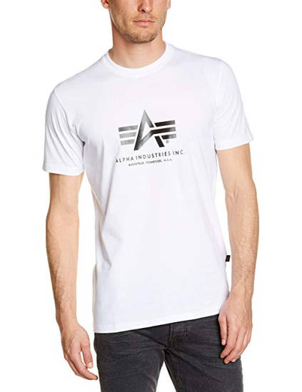 Alpha Industries T-Shirt weiß