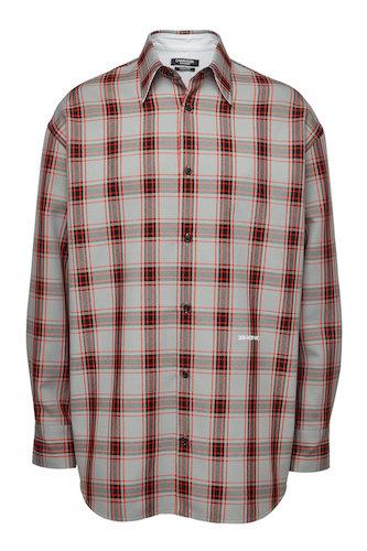 Calvin Klein Hemd rot grau kariert