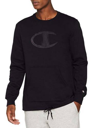 Champion Sweatshirt C Logo schwarz
