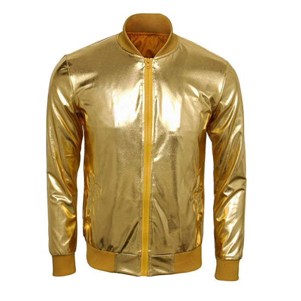 Jacke Gold Metallic Optik