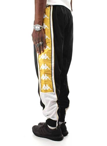Kappa Hose mit Seitenstreifen gold schwarz