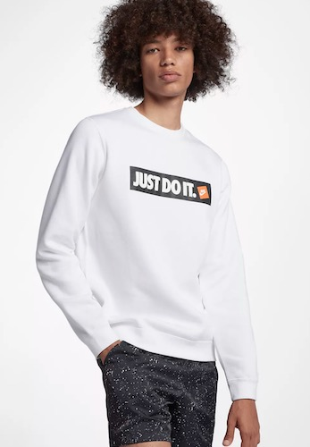 Nike Just Do It Pullover weiß