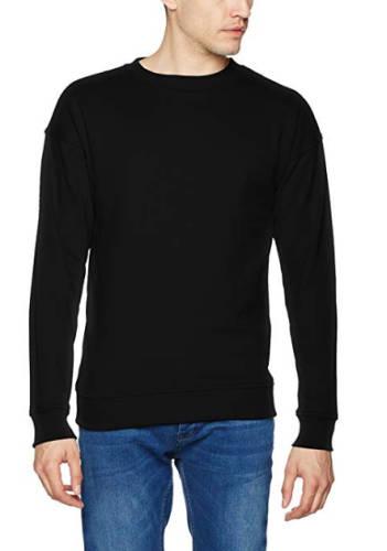 Sweatshirt ohne Aufdruck schwarz