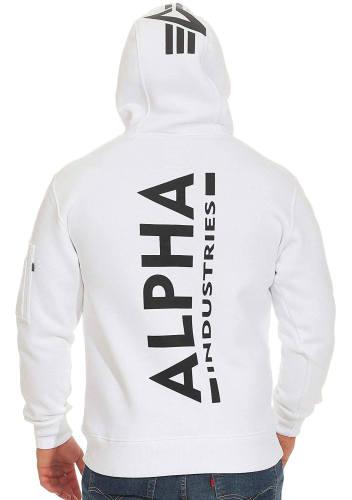 Alpha Industries Hoodie Back Print weiß