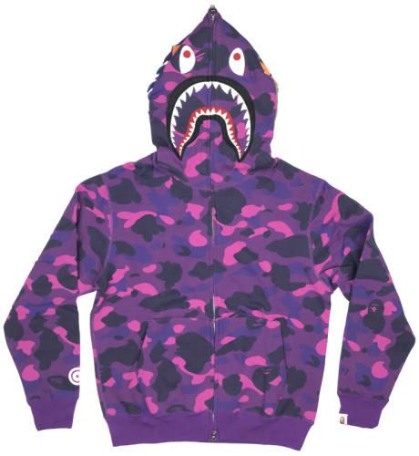 Bape Hoodie Purple Camo